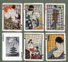 Collectible Japanese playing cards Ukiyde 1962